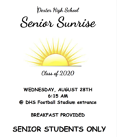 Senior Sunrise Date Set!